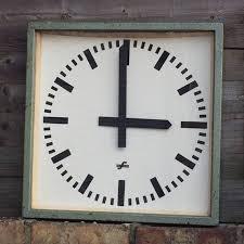 large office clocks. 1950s East German Large Industrial Factory / Office Clocks By Elfema Large Office Clocks L
