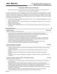 Elementary School Principal Resume. Sample Resume Entry Level ...