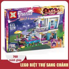 Đồ chơi trẻ em thông minh cho bé gái bộ xếp hình lego Biệt Thự ...