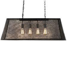 lemuel 4 light black indoor edison island chandelier with bulb