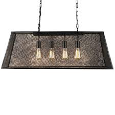lemuel 4 light black indoor edison island chandelier with bulb