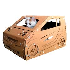 Cat House Smart Cardboard Cat House Cat Bed Ever Made That Can Be Driven