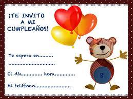tarjetas de cumplea os para ni as de cumpleaños para niños del oso traposo con globos