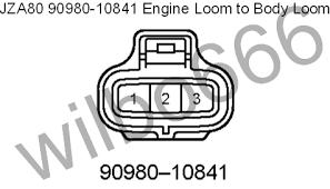 wilbo666 2jz ge jza80 supra engine wiring jza80 toyota supra 2jz ge 90980 10841 engine loom to body loom plug