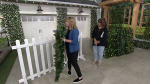 Compass Home Expandable Faux Ivy Privacy Fence With Lights Compass Home Expandable Faux Ivy Privacy Fence With Colored Leaves On Qvc