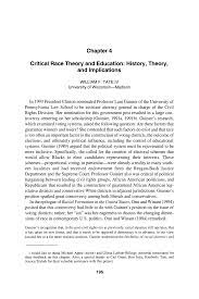 Critical Race Theory and Education ...