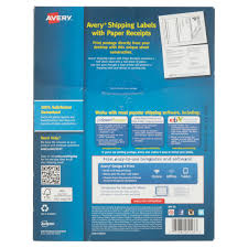 avery white shipping labels paper receipts trueblock avery white shipping labels paper receipts trueblock technology for laser printers 5 1 16 x 7 5 8 pack of 100 com