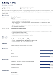 Resume Template Executive Assistant Executive Assistant Resume Sample Complete Guide 20