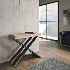 Group Design Diago Table Console Extensible Moderne En Chêne
