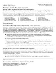 ... Sample Security Manager Resume 1 Best Executive Services ...