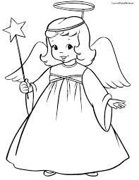 Small Picture Free Angel Coloring Pages letscoloringpagescom Cute Angel