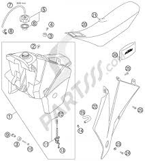 Tank seat cover ktm 525 exc factory racing 2007 eu