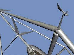 wind vane gif. large scale 8-rotor model wind-vane at an angle showing the direction of wind vane gif