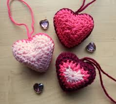 Crochet Decoration Patterns Hanging Hearts Make My Day Creative