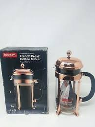 bodum chambord 8 cup french press copper glass replacement