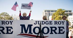 why trump stands by roy moore even as it fractures his party the new york times
