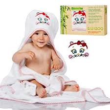 Amazon.com : Kids Besties Baby Bath Towel set including Baby Hooded ...