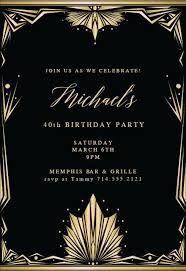 Great Gatsby Invitation Template Great Gatsby Invitation Templates Free Greetings Island