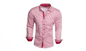 dress shirt size barabas mens spring collection slim fit dress shirts red size