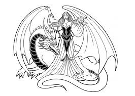 Small Picture Printable Coloring Pages For Adults Dragon and wizard girl
