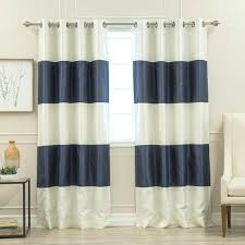 rugby stripe curtains aurora home striped grommet top blackout curtain panel pair rugby stripe blackout curtains