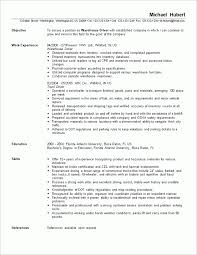Warehouse Worker Resume Barraques Org