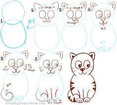 cat drawing step by step.  Cat Draw A Cartoon Cat With Number 8 Shape Here Is Simple  Inside Drawing Step By Q