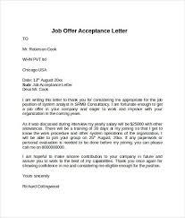 Offer Acceptance Letter Template Pinterest Letter Sample