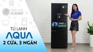 Tủ lạnh Aqua: 2 cửa, 3 ngăn, có đông mềm và lấy nước ngoài (AQR-IW338EB)