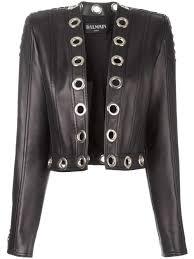 black lambskin metallic eyelet jacket from balmain women leather jackets balmain long black dress balmain jeans competitive