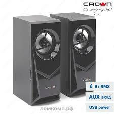 <b>Колонки</b> 2.0 <b>CROWN CMS</b>-<b>603</b> (6 Вт, питание USB) высокого ...