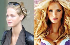 vs models without makeup before and after makeup daily
