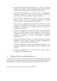 Personnel Management Job Description Human Resource Management Function Of Hrm Docsity