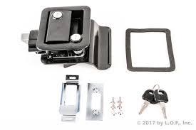 Red Hound Auto RV Camper Travel Trailer Locking Entrance Door Black ...