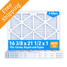 Carrier Filter Size Chart 16 3 8x21 1 2x1 Merv 10 Glasfloss Pleated Air Filter Box Of 4 Made In Usa