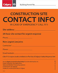 Site Safety Plans The City Of Calgary Calgary Construction And Public Safety