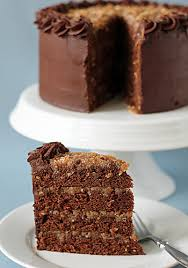slice of german chocolate cake.  Cake Youu0027ll Have To Excuse Me From More Writing I A Dinner Prepare And  Slice Of Cake Enjoyyum Printable Recipe Mile High German Chocolate Cake Throughout Slice Of H