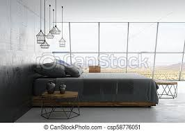 modern bed side view. Contemporary Side Loft Style Room  Csp58776051 On Modern Bed Side View N