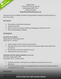 Template How To Write A Perfect Barista Resume Examples Included