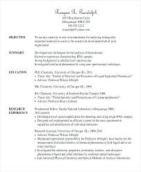 Structure Of A Resume Classy Resume Objective Examples College Students 48 Sample Templates