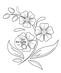 Flowers Coloring Pages For Kids Printable Free