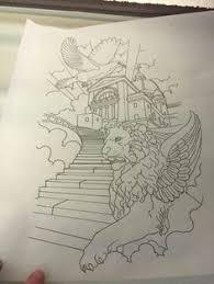 Heaven Gates Tattoo Drawing