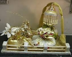 Gift Tray Decoration diwaligiftwrappingideas trousseau packing wedding packing 1