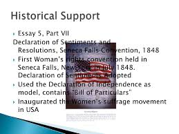 declaration of sentiments essay declaration of sentiments essay declaration of sentiments and resolutions essay about myself stanton declaration of sentiments