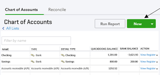 How To Create A New Account In The Chart Of Accounts In