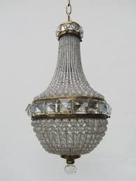 home good looking vintage french chandelier 3 crystal beaded basket 1 vintage french