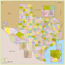 buy texas zip code with counties map