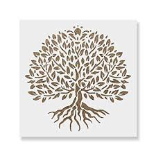 Template Tree Yggdrasil Tree Of Life Stencil Template Reusable Stencil With Multiple Sizes Available