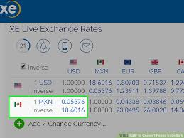Cdn To Peso Chart How To Convert Pesos To Dollars 10 Steps With Pictures