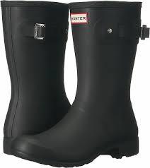 Hunter Shoe Size Chart Details About Hunter Womens Original Tour Short Packable Rain Boots Black 8 M Us